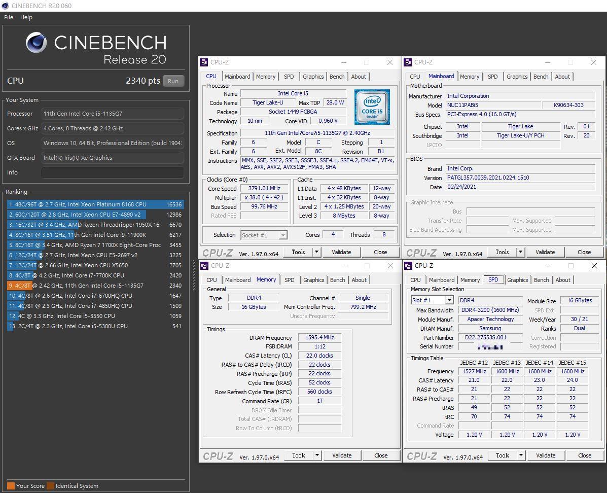 宇瞻Apacer DDR4-3200 SO-DIMM 16GB筆電用記憶體-Intel NUC輕鬆安裝大容量記憶體