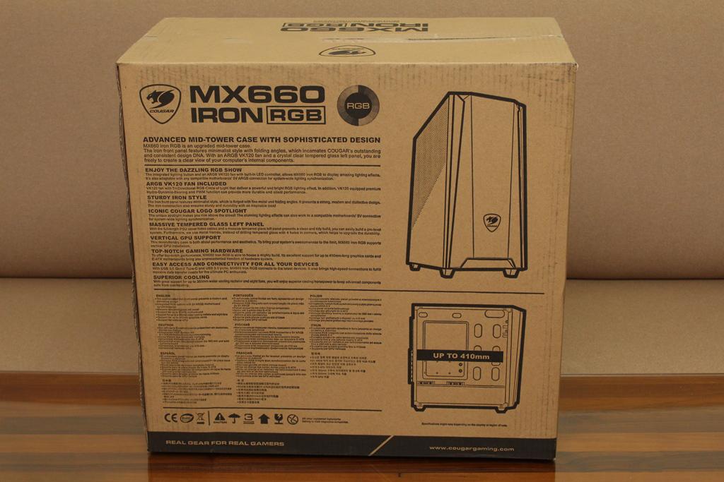 美洲獅COUGAR MX660 Iron RGB中塔機殼-陽剛造型搭配鋼化玻璃透...2744