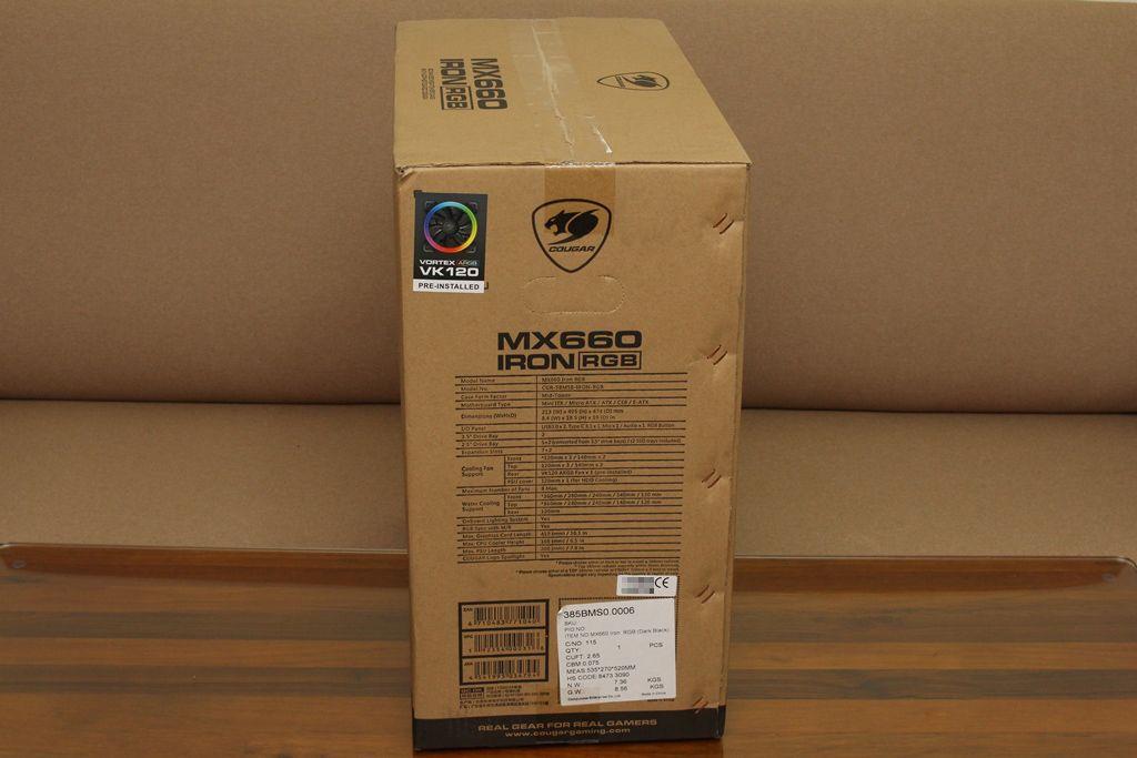 美洲獅COUGAR MX660 Iron RGB中塔機殼-陽剛造型搭配鋼化玻璃透...3506