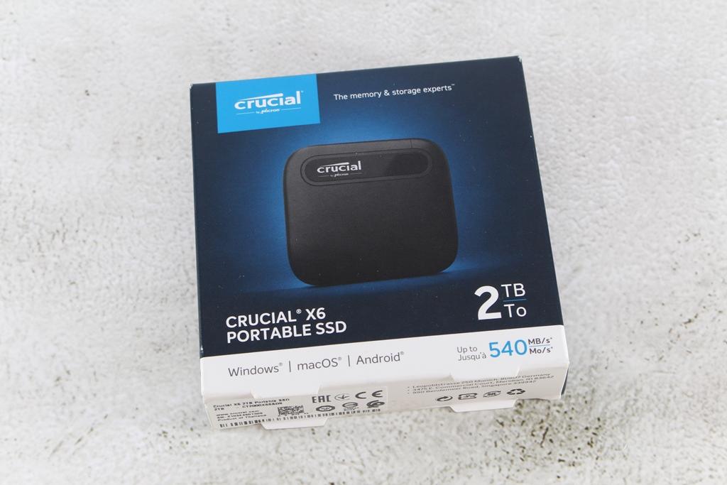 Crucial X6 Portable SSD外接式固態硬碟-輕巧體積小,超大容量2...856