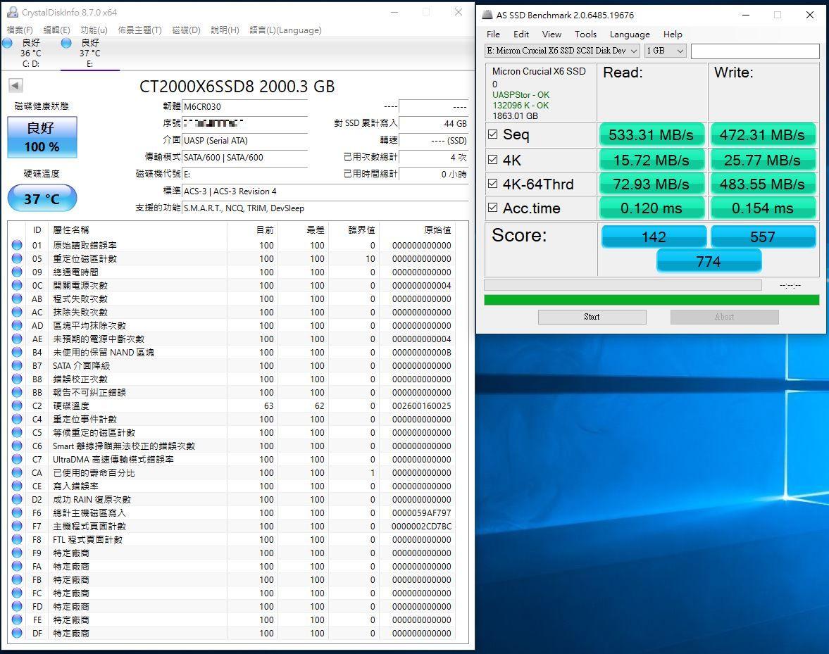 Crucial X6 Portable SSD外接式固態硬碟-輕巧體積小,超大容量2...4971
