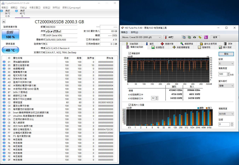 Crucial X6 Portable SSD外接式固態硬碟-輕巧體積小,超大容量2...6002
