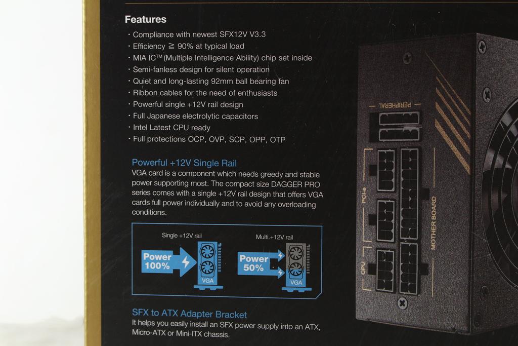 全漢FSP DAGGER PRO金鋼彈650W 80PLUS金牌全模組化SFX電源供應器...1787
