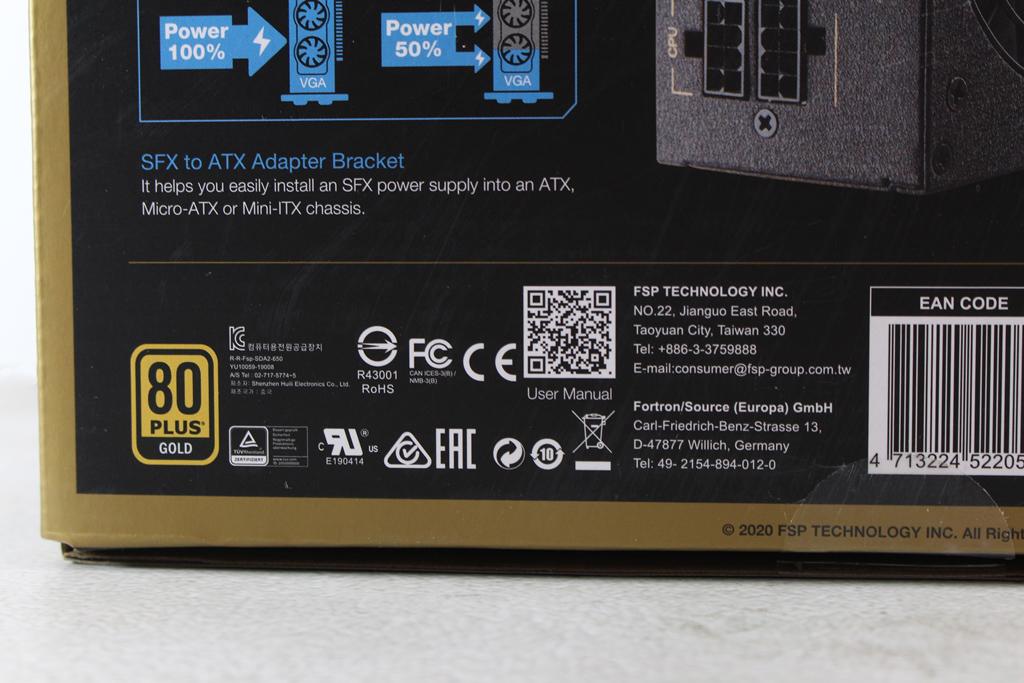全漢FSP DAGGER PRO金鋼彈650W 80PLUS金牌全模組化SFX電源供應器...7686