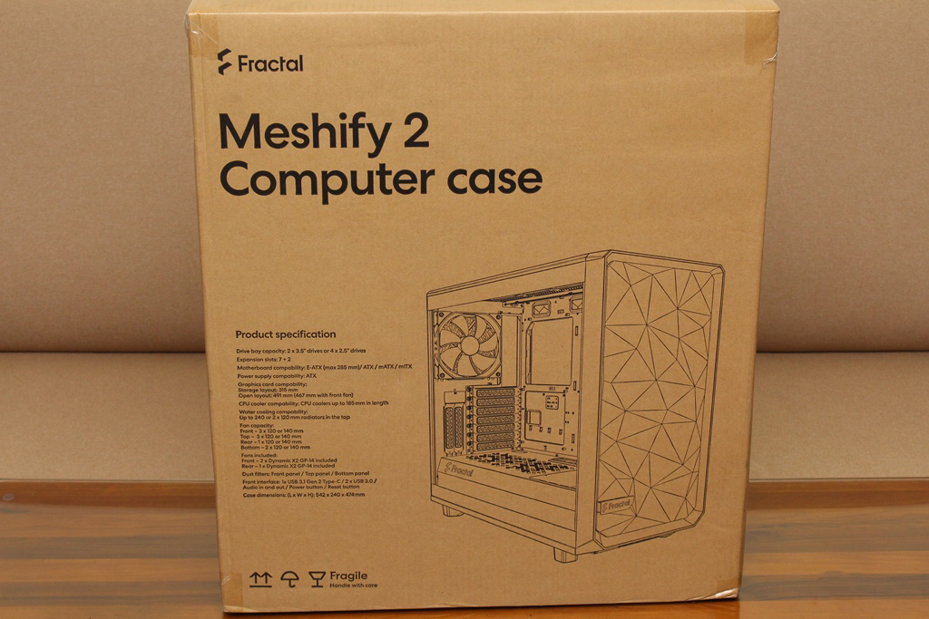 Fractal Design Meshify 2 TG鋼化玻璃透測機殼-幾何立體面板搭配...789