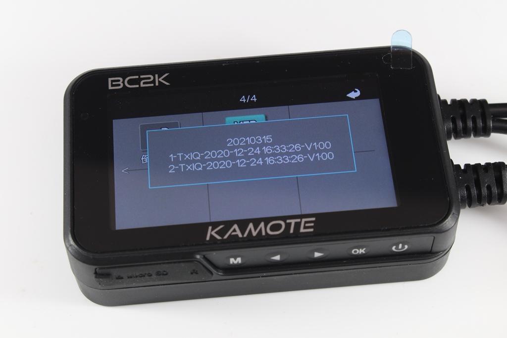卡摩特Kamote BC2K 雙2K解析度機車行車紀錄器-高清高解析,...8218