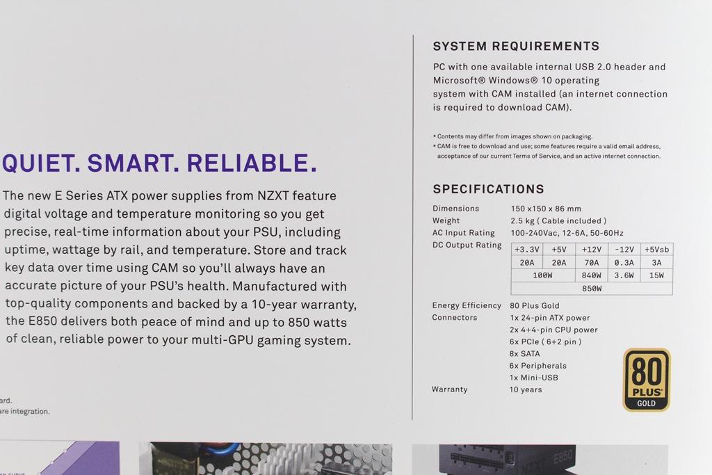 恩傑 NZXT E850 850W 金牌全模組化數位電源供應器-CAM軟體即...8241