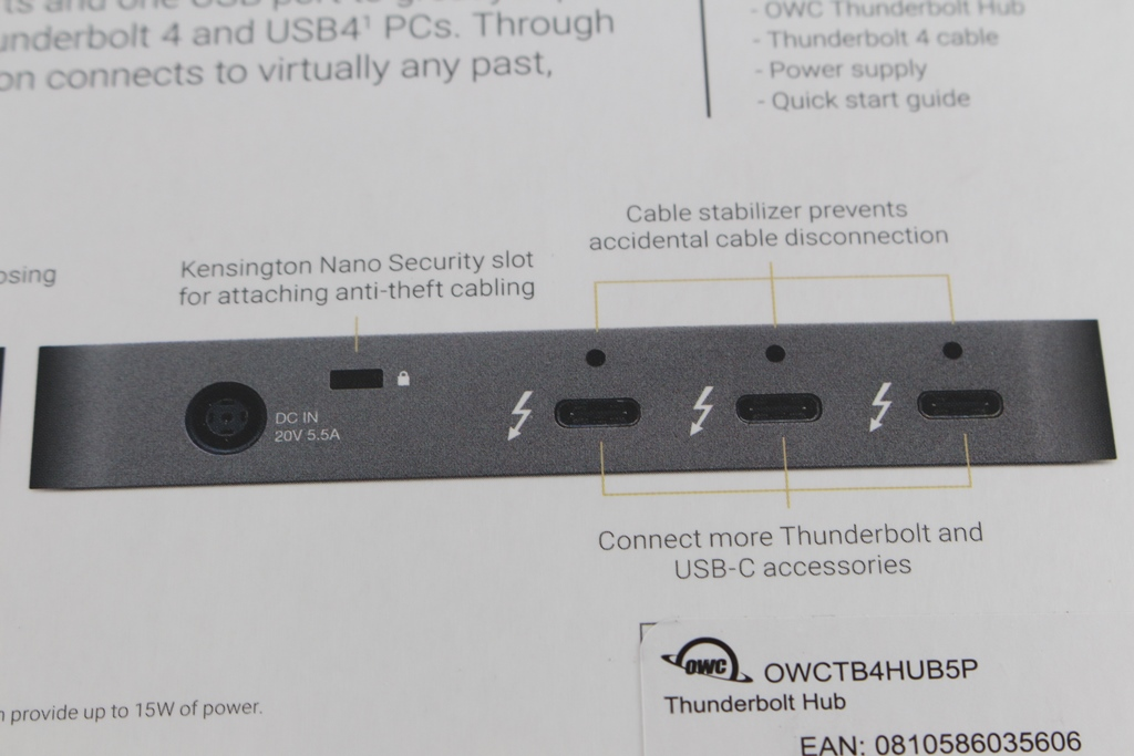 OWC Thunderbolt Hub-最新Thunderbolt 4擴充神器,再多裝置也不怕!5021