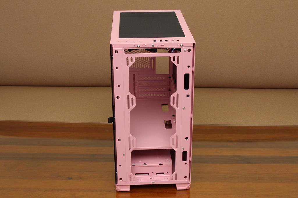 亞碩Power Master M2 mATX鋼化玻璃透側機殼-繽紛少女心,擴充...2559