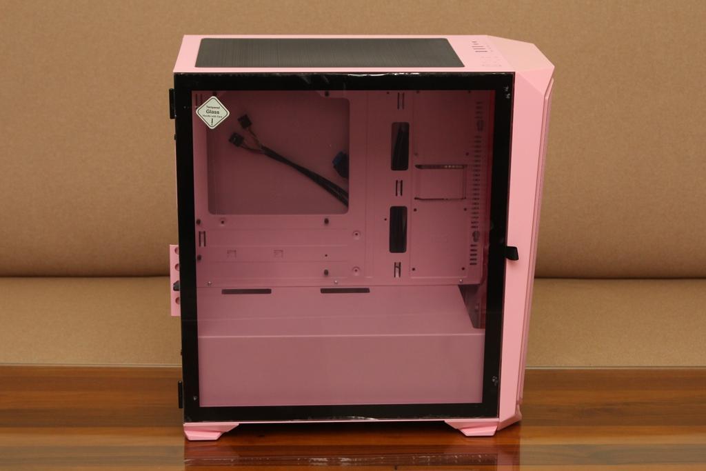 亞碩Power Master M2 mATX鋼化玻璃透側機殼-繽紛少女心,擴充...4026