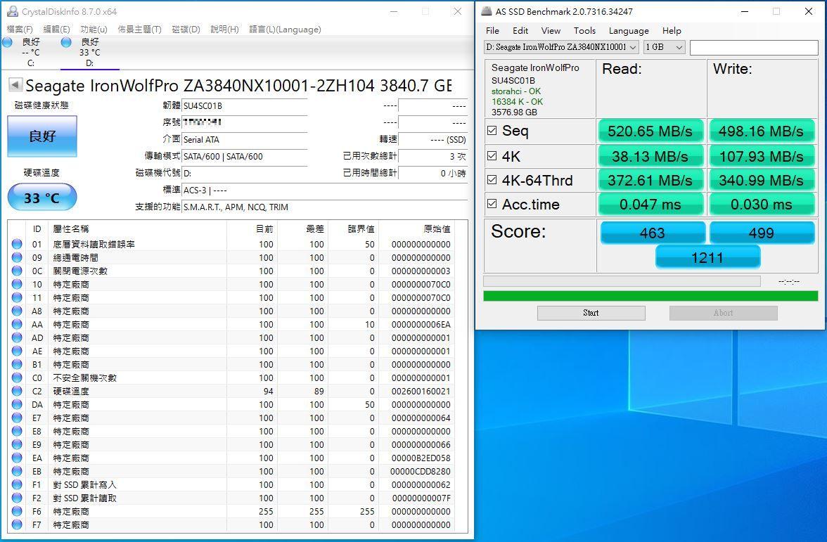 希捷Seagate IronWolf Pro 125 SSD-大容量3.84TB固態硬碟+優質五年...6703