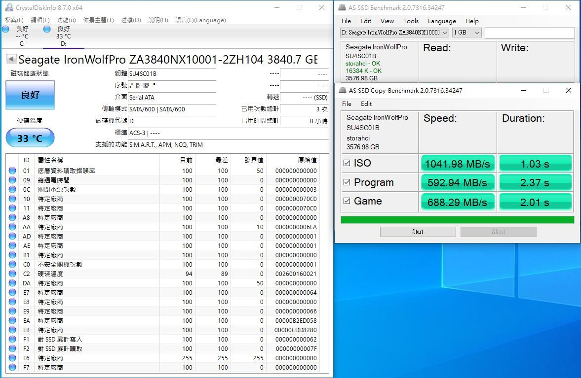 希捷Seagate IronWolf Pro 125 SSD-大容量3.84TB固態硬碟+優質五年...3485