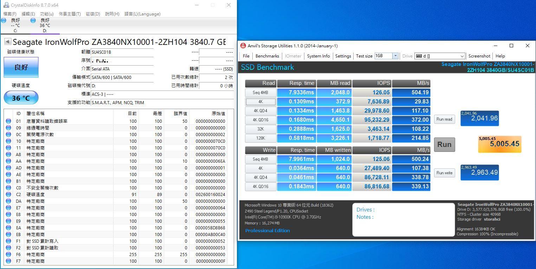 希捷Seagate IronWolf Pro 125 SSD-大容量3.84TB固態硬碟+優質五年...2060