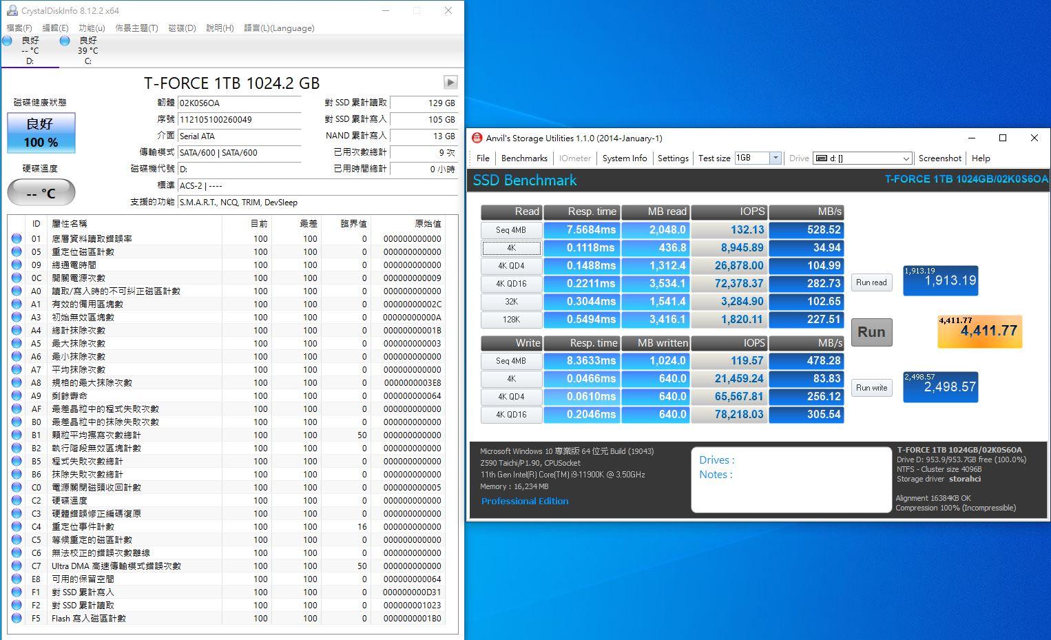 十銓T-FORCE DELTA MAX WHITE RGB SSD固態硬碟-ARGB發光還不夠,白...3710