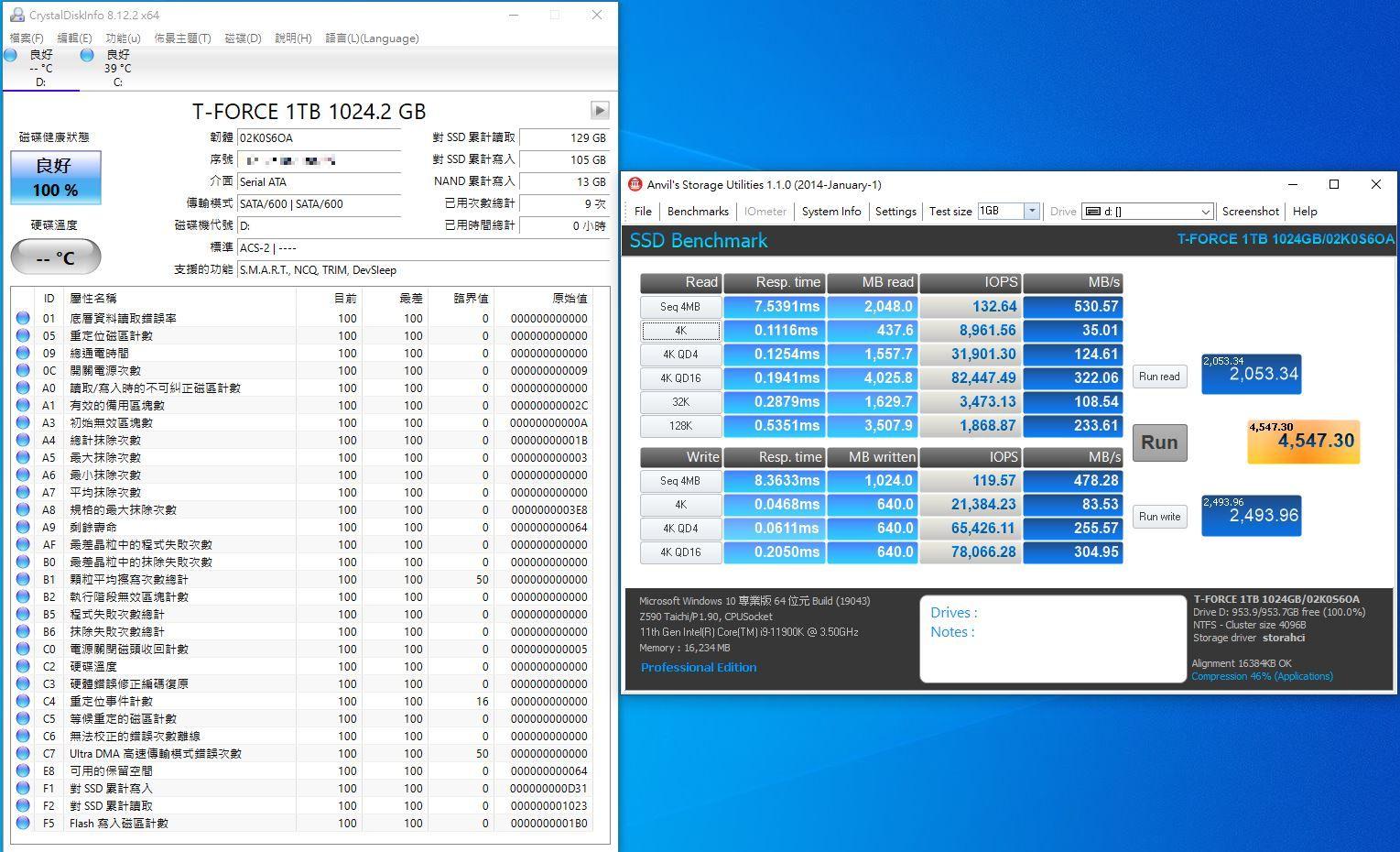 十銓T-FORCE DELTA MAX WHITE RGB SSD固態硬碟-ARGB發光還不夠,白...2086