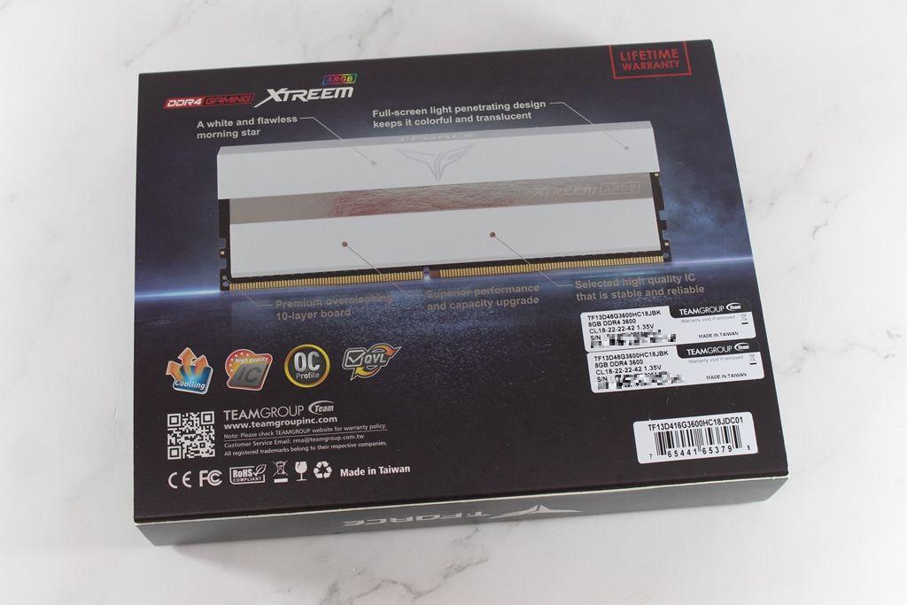十銓T-FORCE XTREEM ARGB DDR4-3600 White Edition超頻記憶體-超美雪...2388