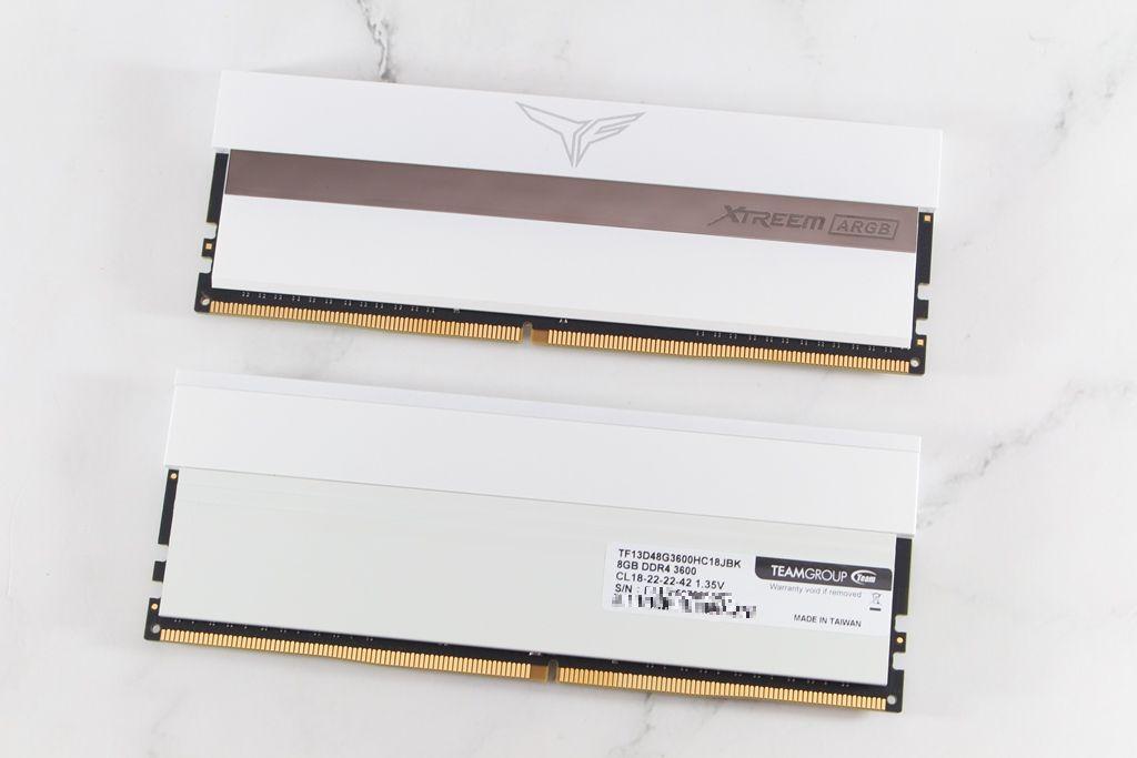 十銓T-FORCE XTREEM ARGB DDR4-3600 White Edition超頻記憶體-超美雪...3435