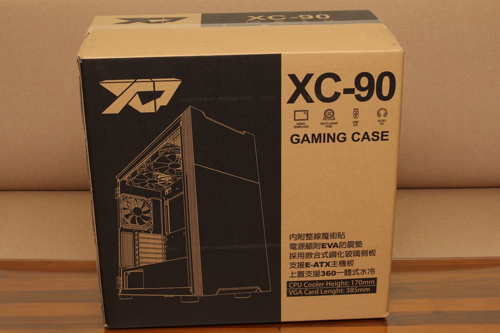 XCP XC-90鋼化玻璃透側機殼-優質散熱設計與低調內斂質感風...7144