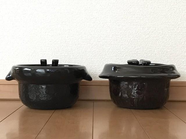 雲井窯鴨釉きまぐれ御飯鍋三合以及與黑樂之粗略比較 @兔夫人 - nidBox親子盒子