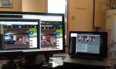 In one of my geekier moments, this is me streaming video of myself and testing in in various formats/plaforms.