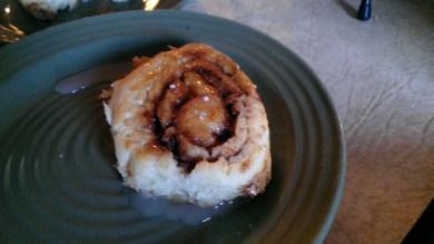 Special cinnamon roll breakfast!