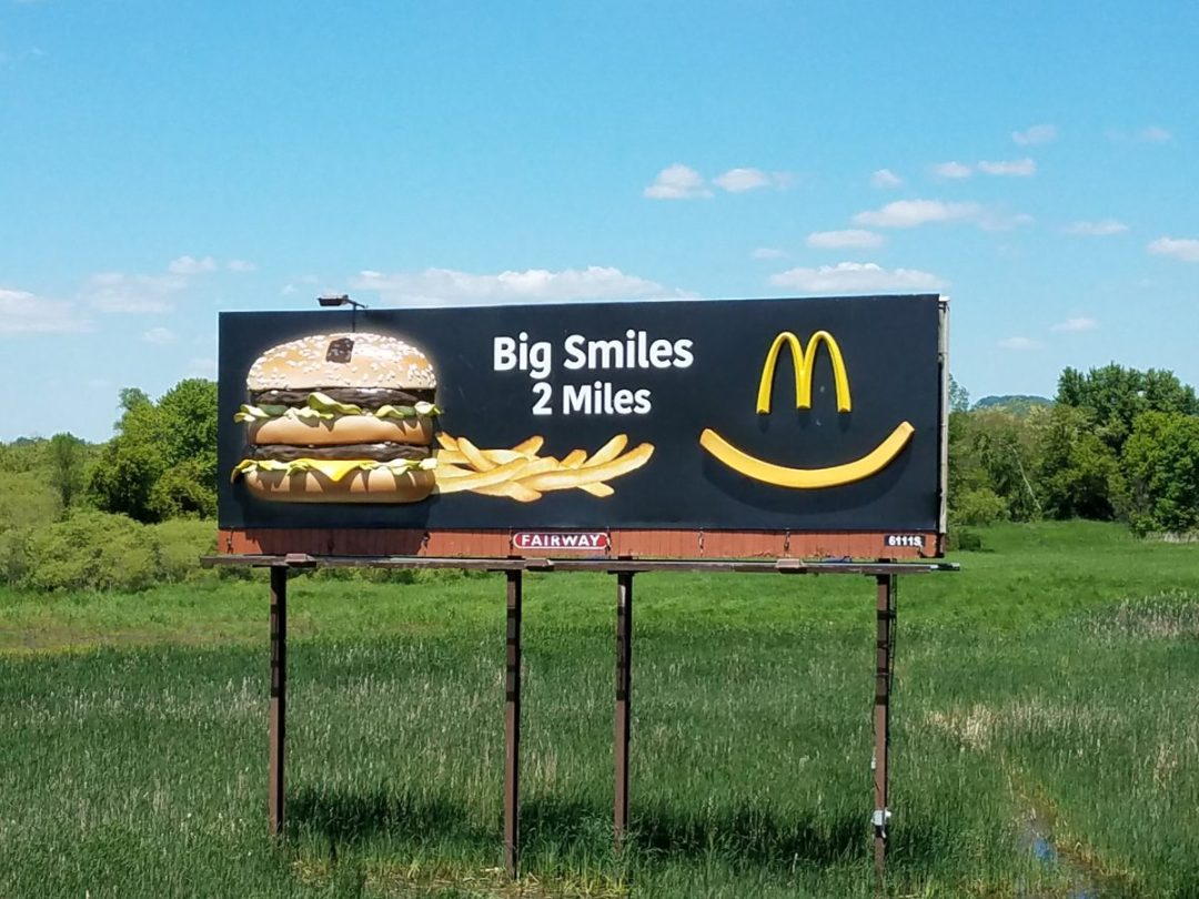Finished Big Mac Billboard