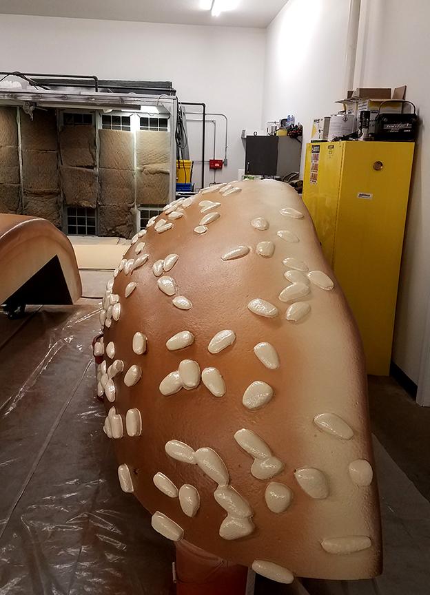 Foam Sculpting - Painting the Big Mac Sections