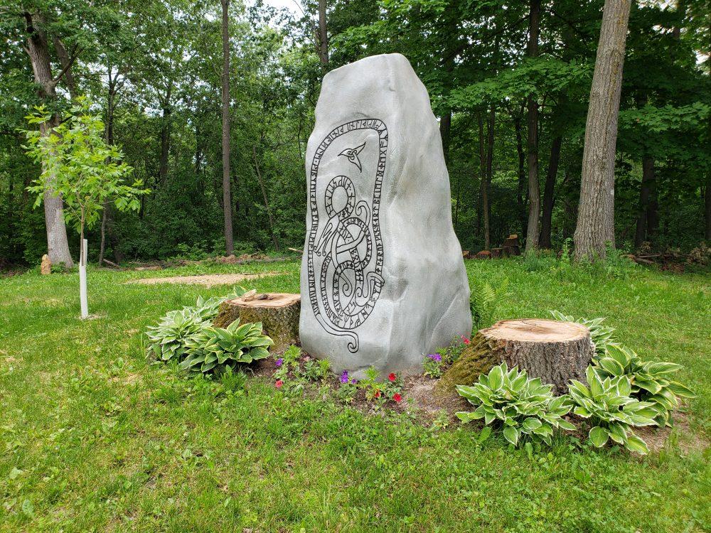 Foam Sculpting - Viking Runestone Replica
