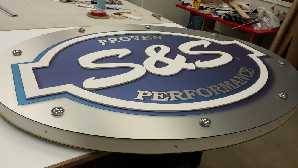 Trade Show Element - Rotating Sign - S&S Cycle with Authentic Knucklehead Detail
