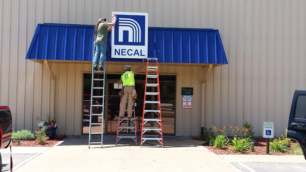 Necal Exterior Sign  Awning