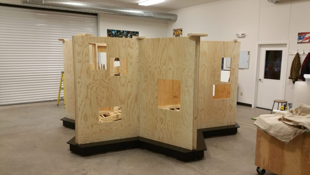 Plywood Wall Support for Foam Pages