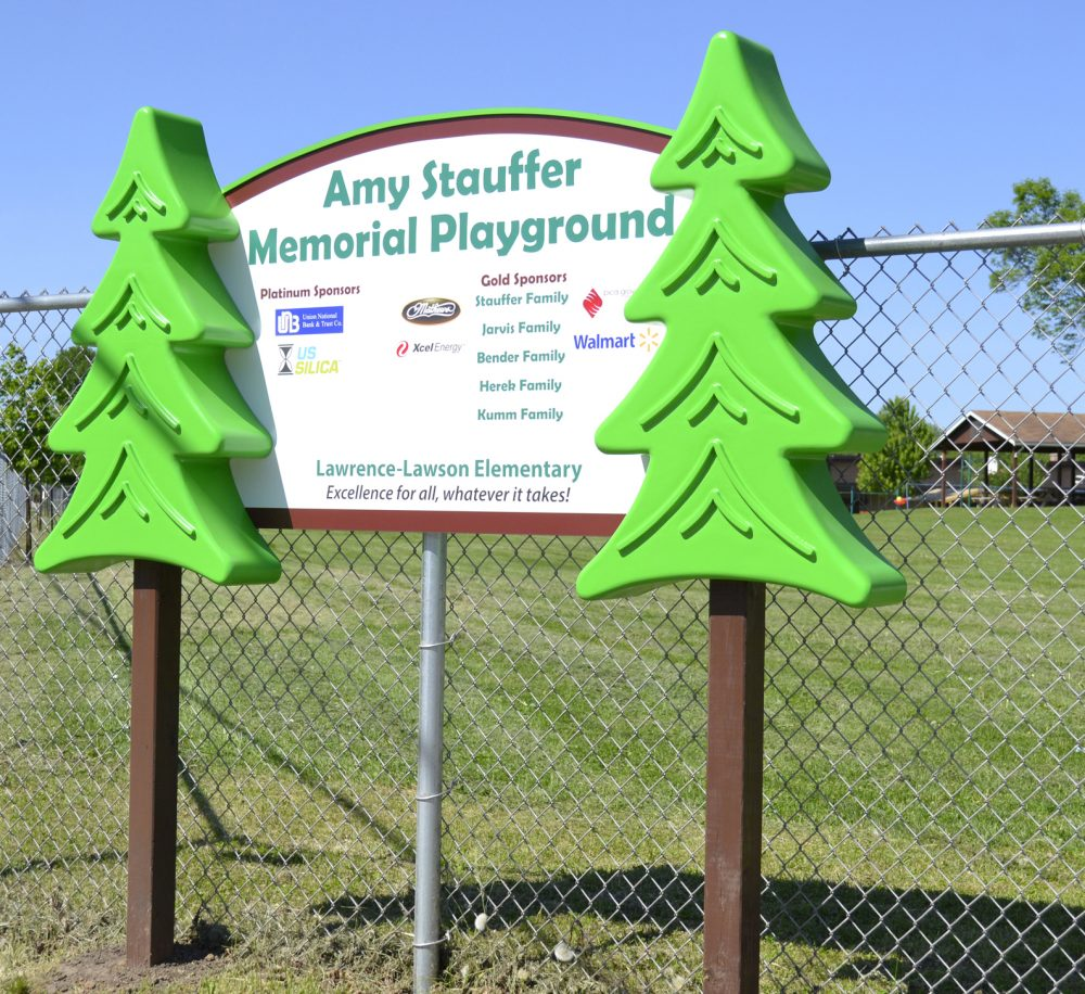 Amy Stauffer Memorial Playground Sign