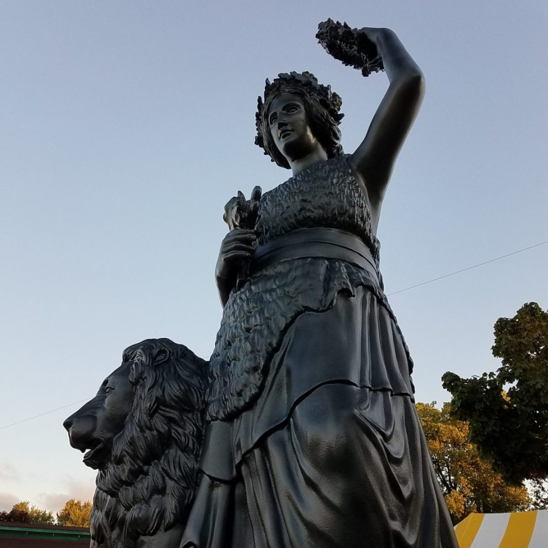 21' tall Lady Bavaria Statue Replica