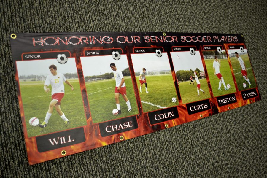 Vinyl Banner - Senior Soccer Players