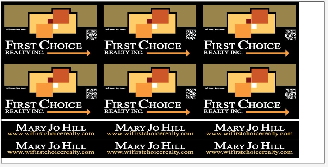 Coroplast Yard Sign - First Choice Realty Logo