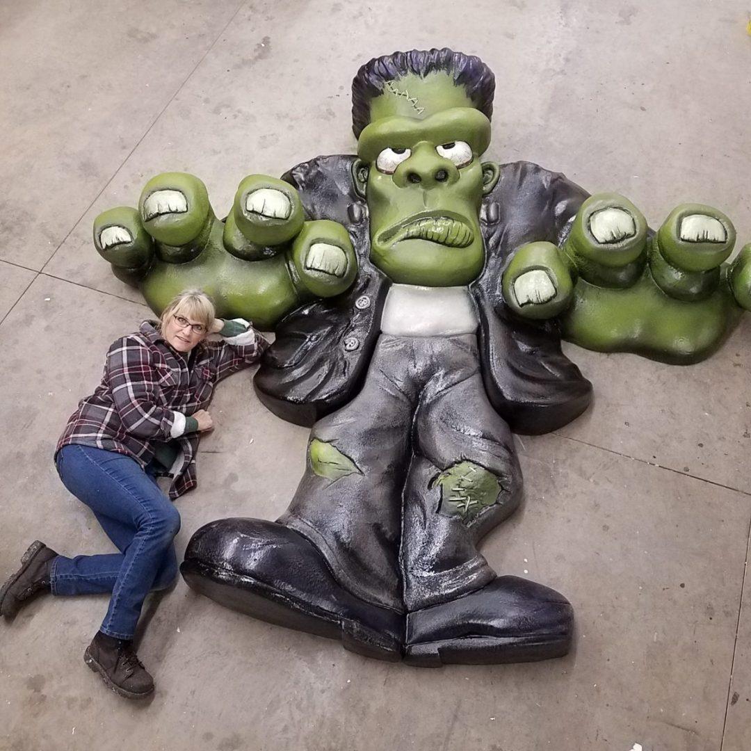 Foam  Sculpting - 8' tall Frankenstein Halloween Prop