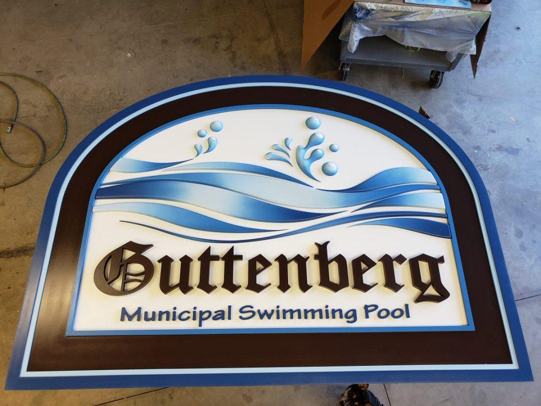 Guttenberg Pool Sign