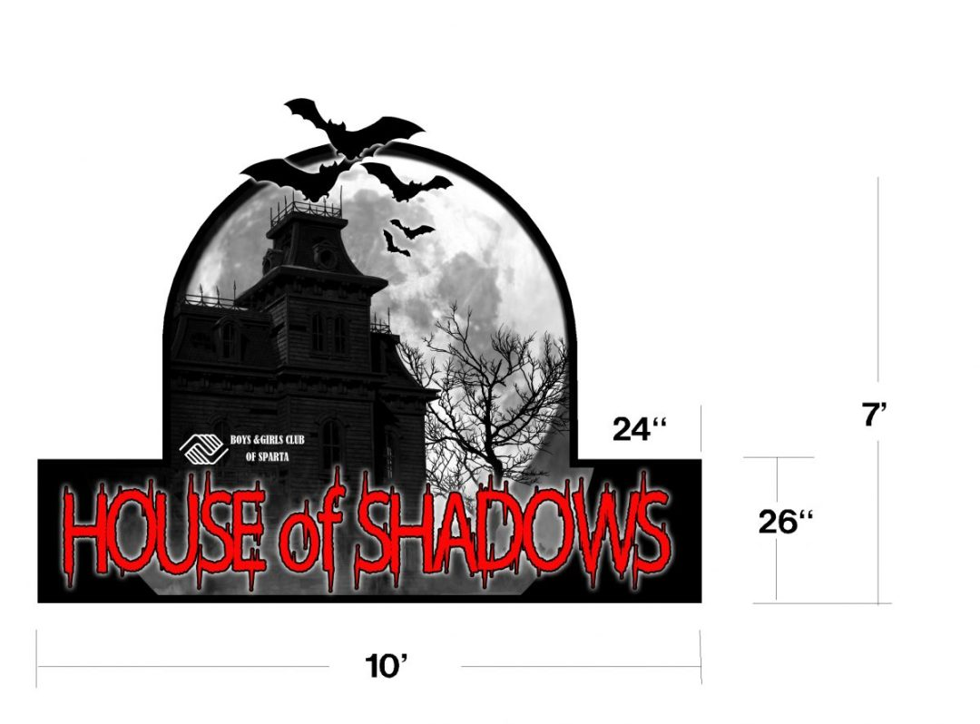 Custom Design - House of Shadows  Lighted Sign