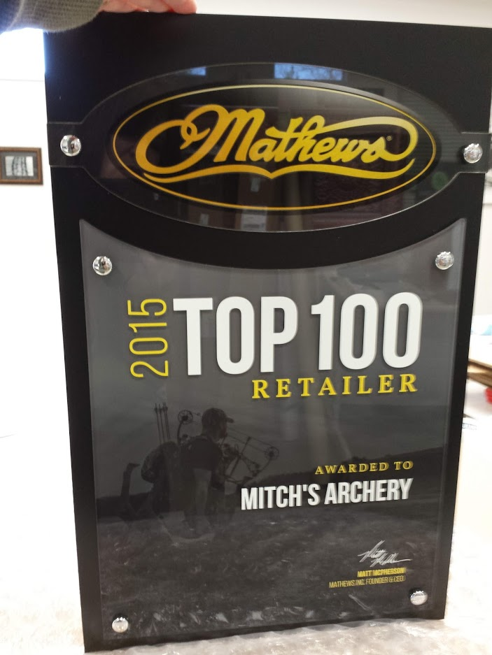 Mathews Top 100 Retailer Plaque 2015
