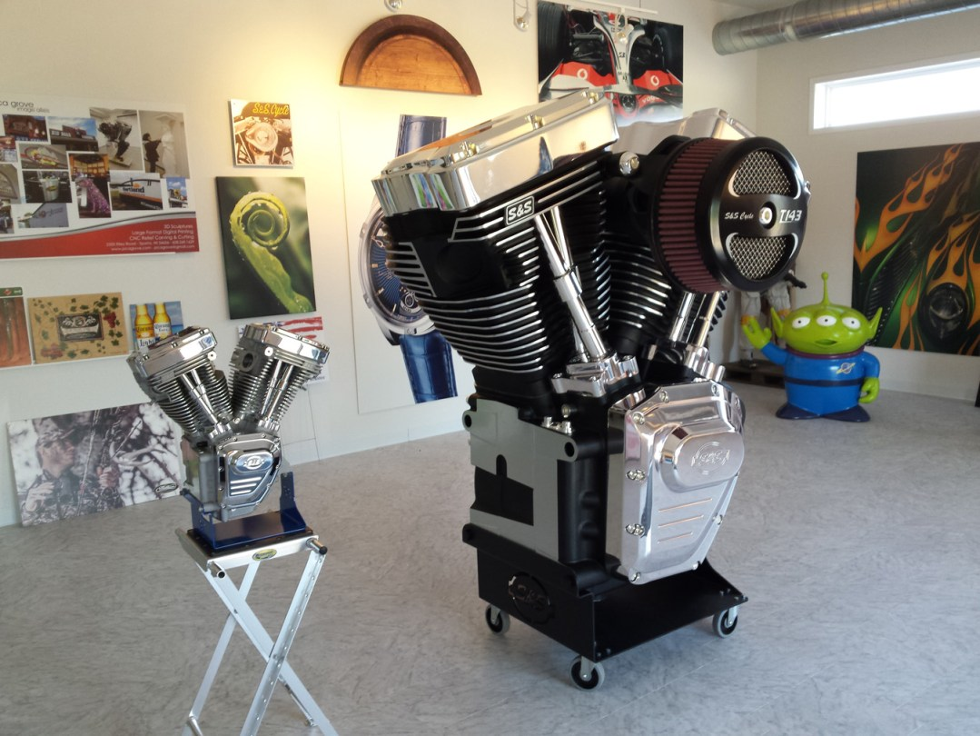 Trade Show Element - S&S Cycle 6' tall Engine Replica