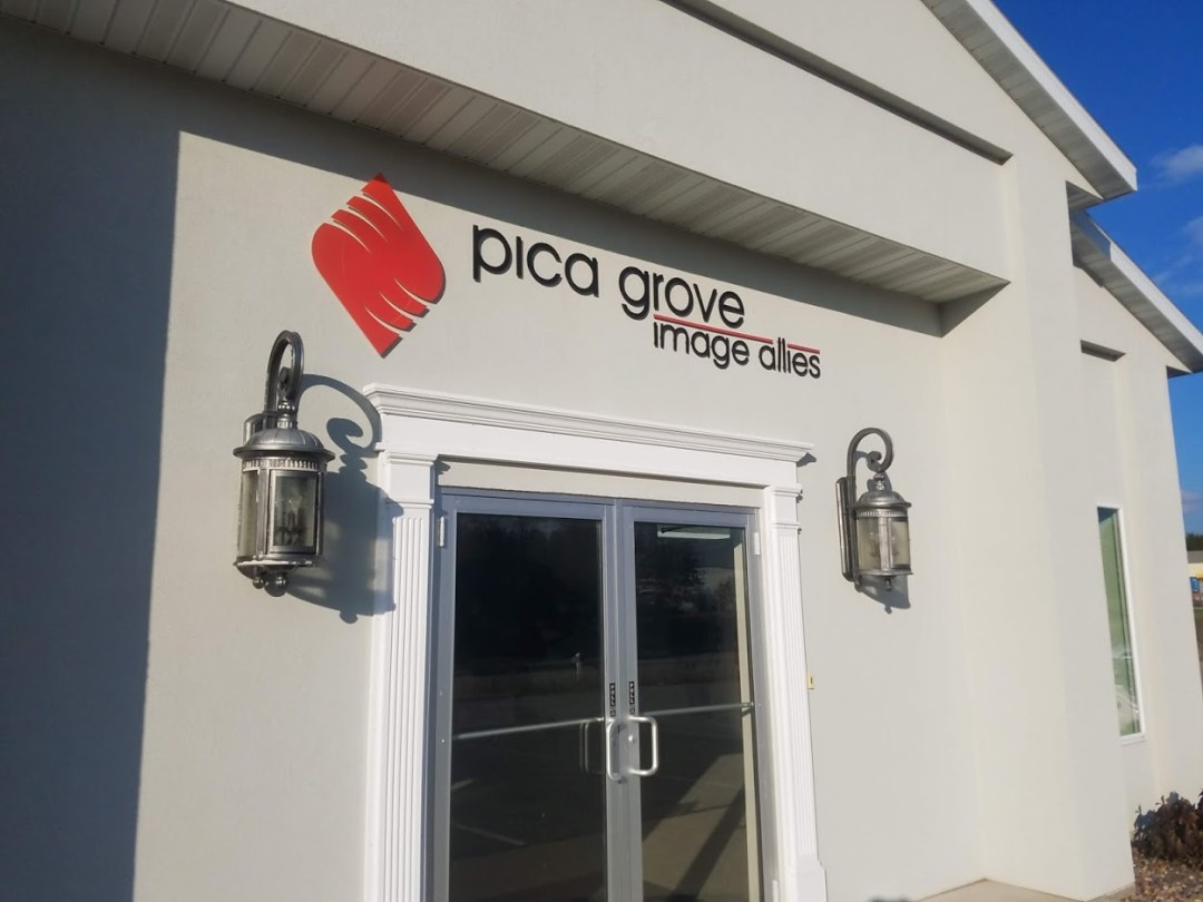Pica Grove Building Letters & Logo
