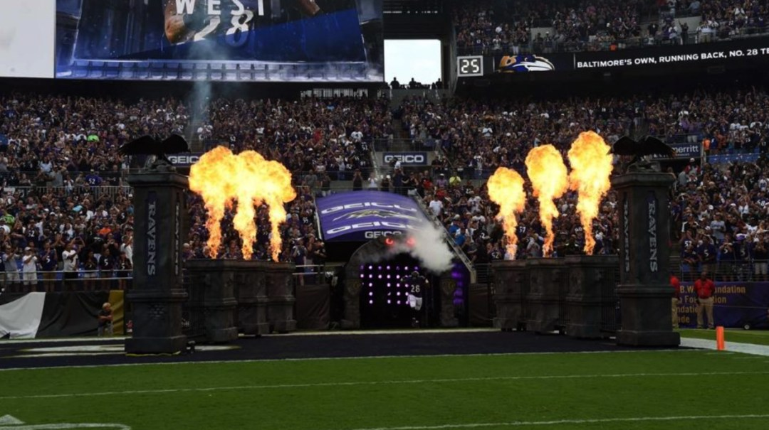 Fire Rated Foam Props Sculpted at Pica Grove for Baltimore Ravens