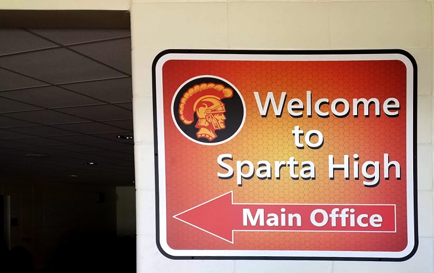 SHS Welcome Metal Sign
