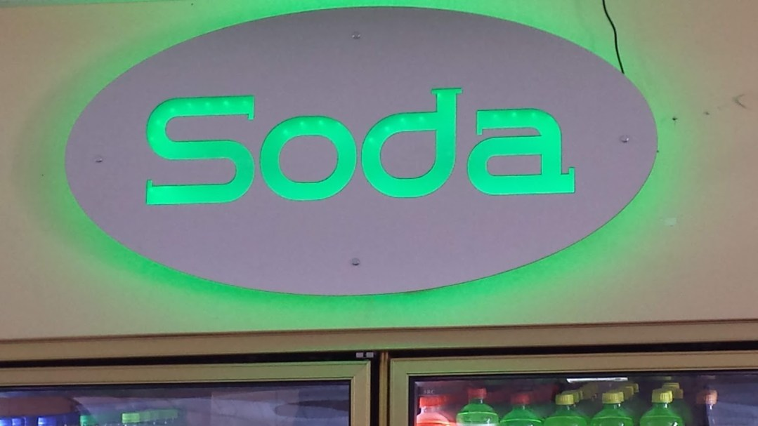 Convenience Store - LED Soda Signs