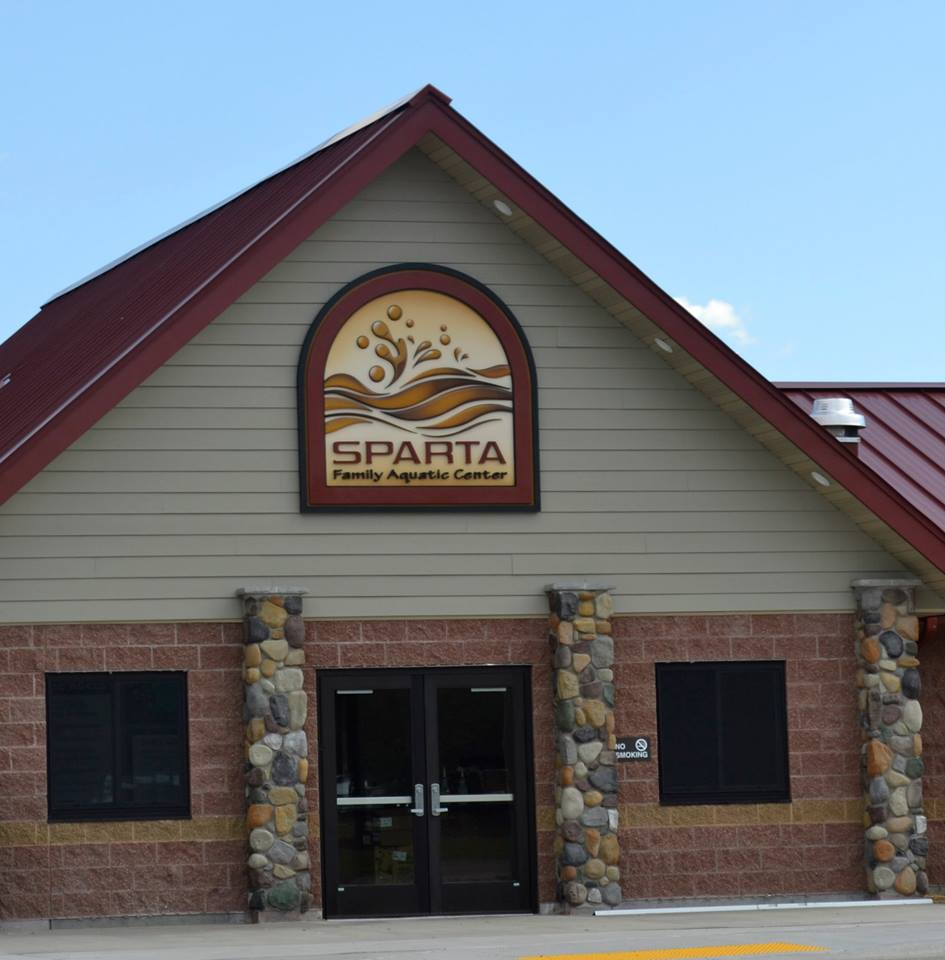 Sparta Aquatic Center Building Sign