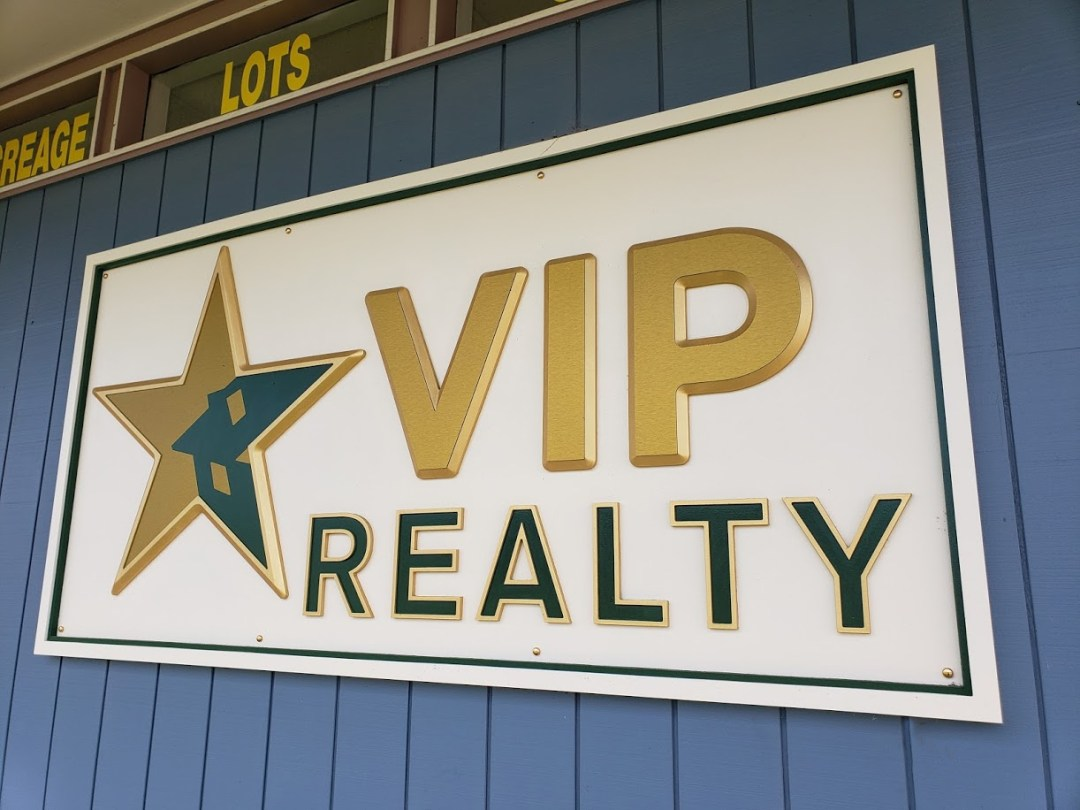 VIP Realty Carved Foam Exterior Sign