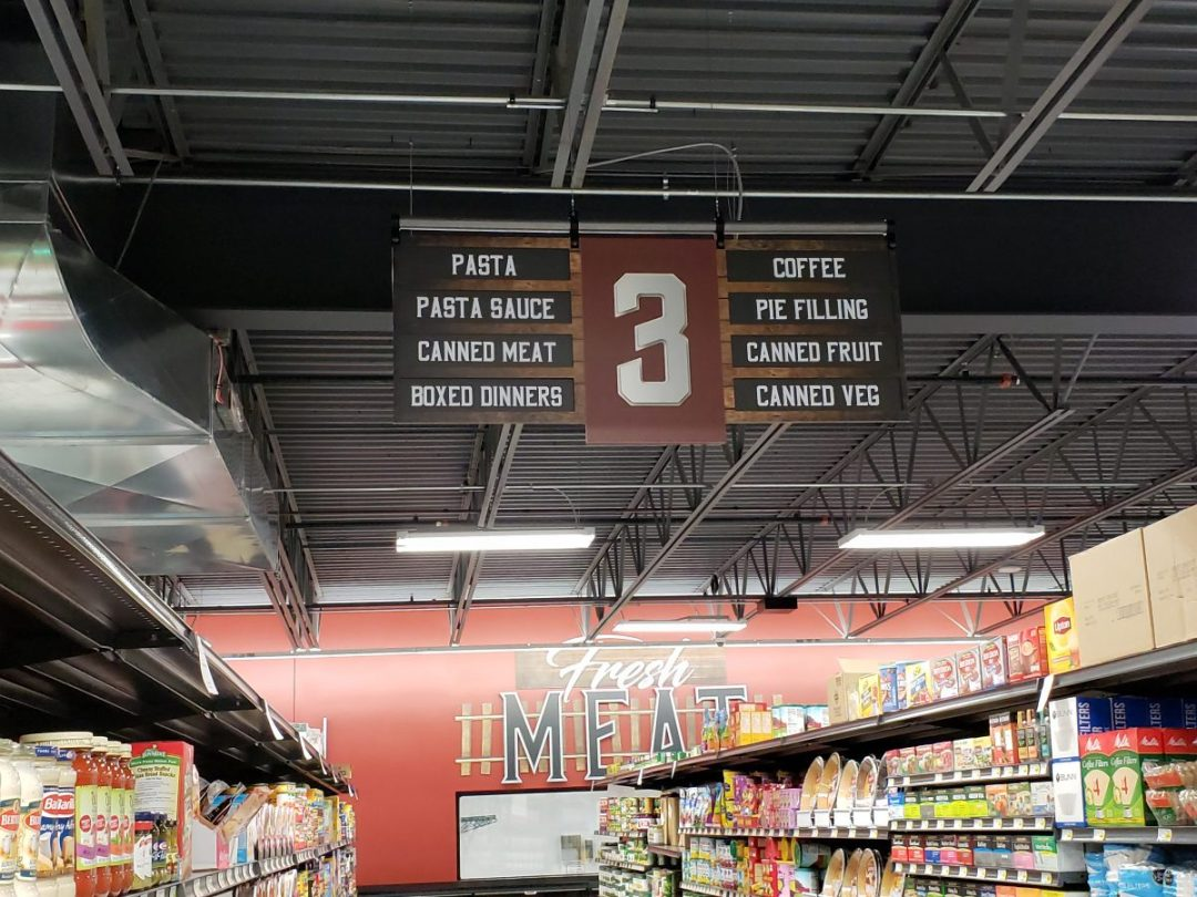 Bender's Grocery Interior Decor - Aisle Marker