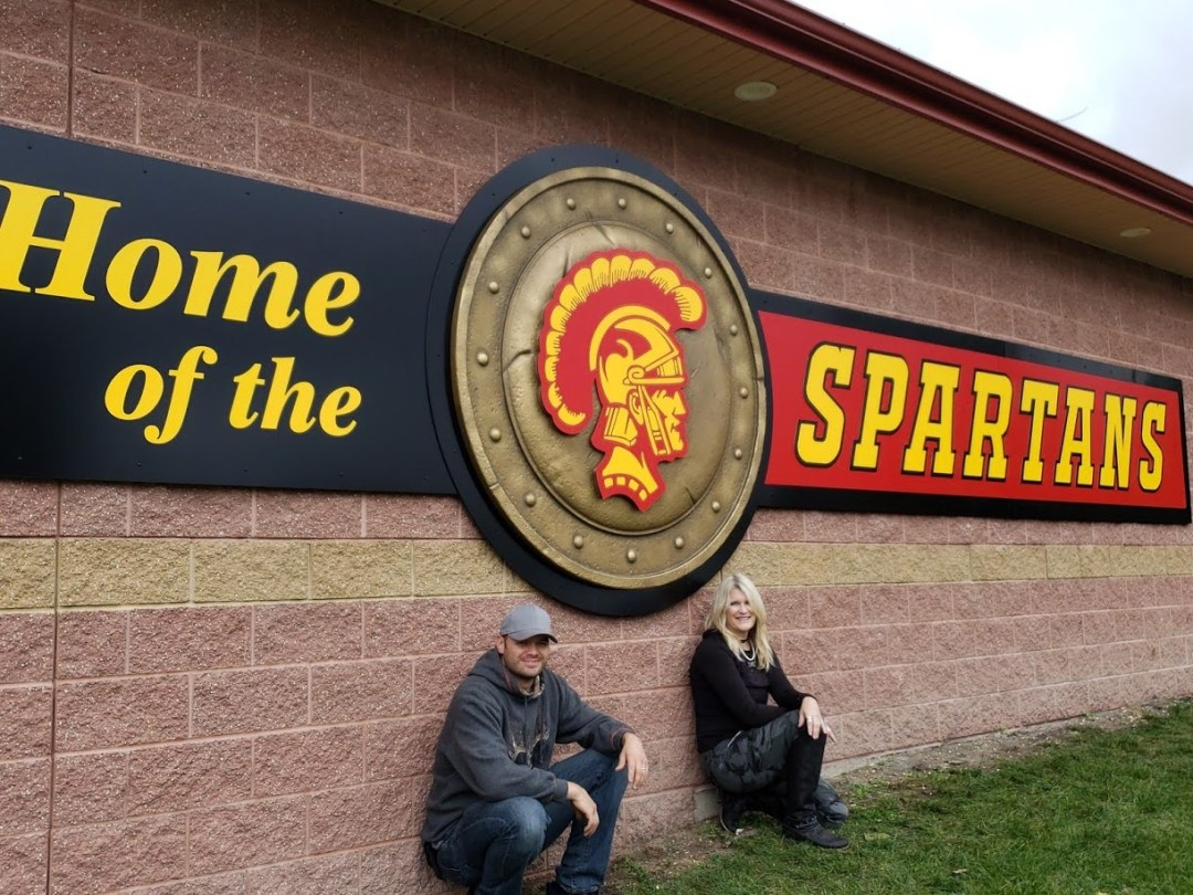 Home of the Spartans Sign