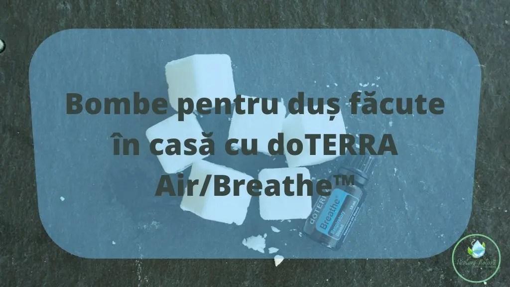 Bombe pentru duș făcute în casă cu doTERRA Air_Breathe™