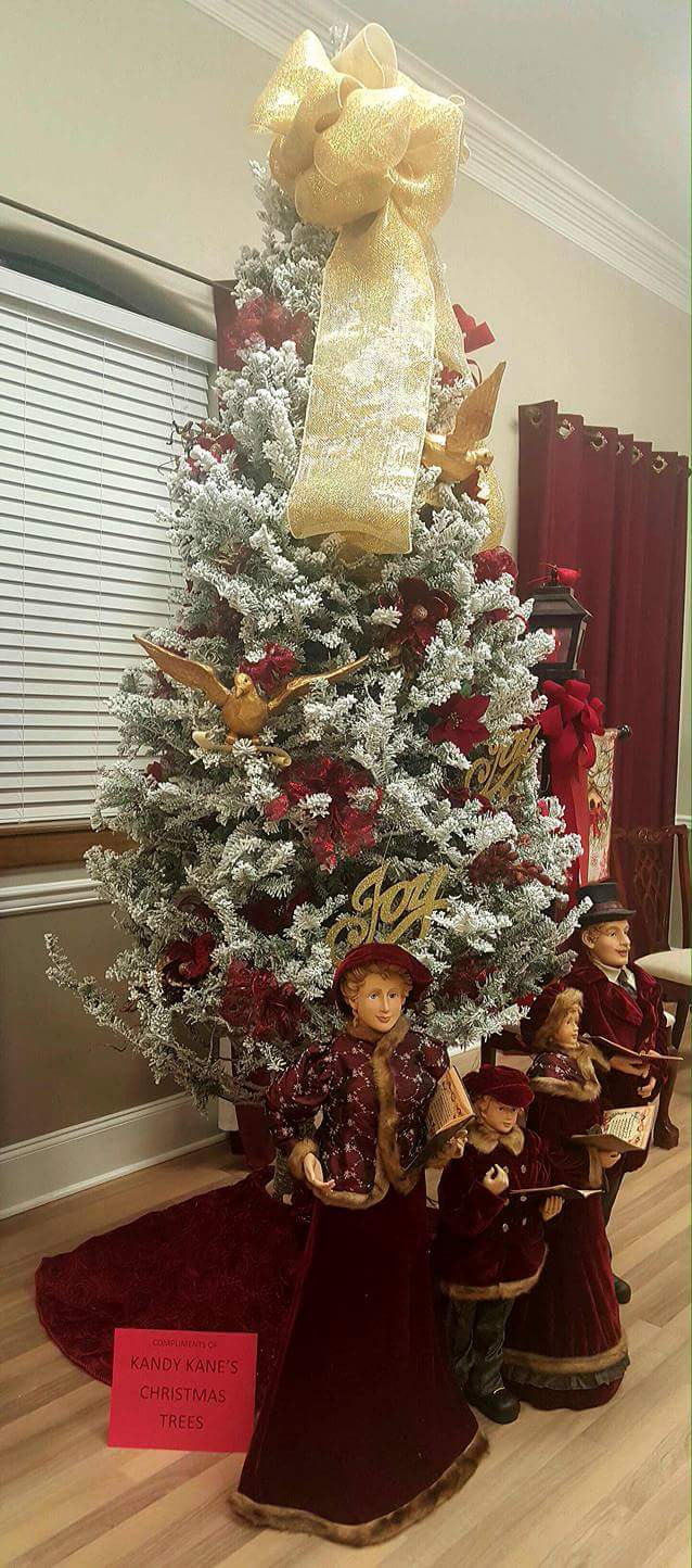 Christmas tree inside Train Depot